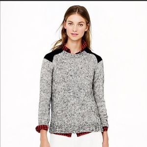 J. Crew Marled Colorblock-Shoulder Sweater
